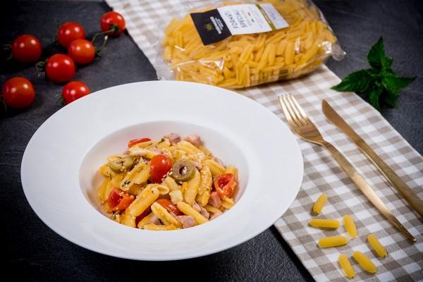 Gnocchetti sardi tonno olive pomodori
