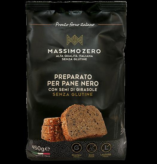 Preparato per pane nero con semi di girasole